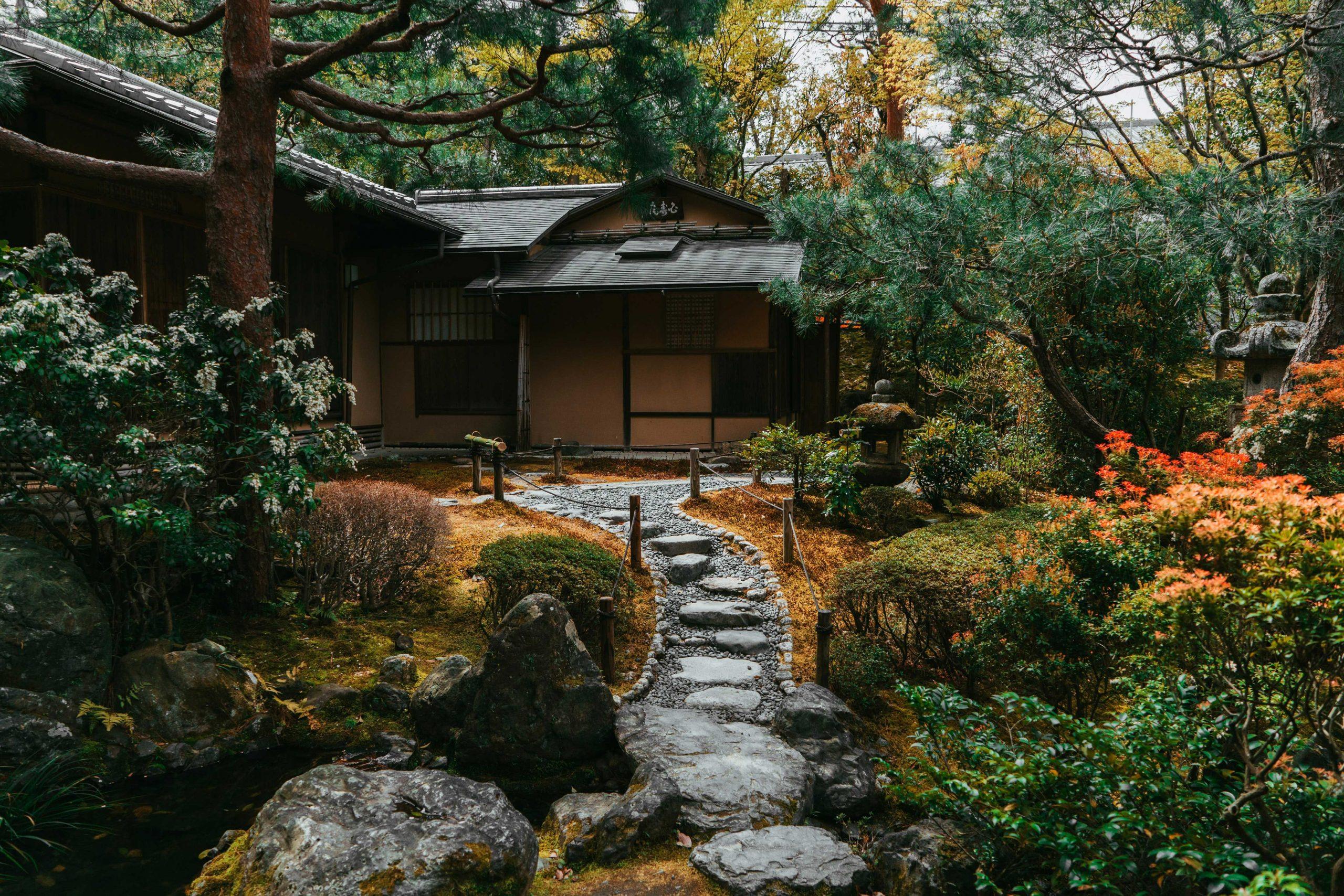 Jardin et maison japonaise